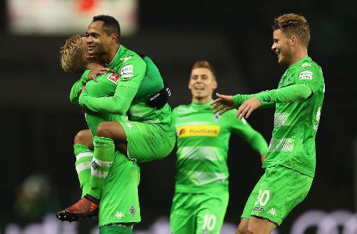 Borussia Mönchengladbach nach Sieg Dritter