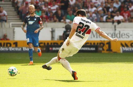 Mario Gomez ist in Topform und erzielt beide Treffer für den VfB Stuttgart. Foto: Bongarts