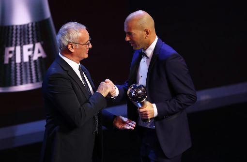 Zinédine Zidane als Welttrainer des Jahres ausgezeichnet