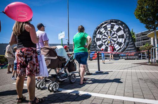 Die vielen kleinen Besucher hat es beim Sommerfest... Foto: Lichtgut/Julian Rettig