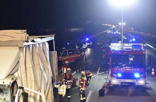 Auf der A8 Richtung München staut es sich nach einem Lkw-Unfall. Foto: 7aktuell.de/Oskar Eyb