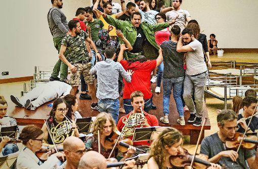 Flüchtlinge und Profis  harmonieren