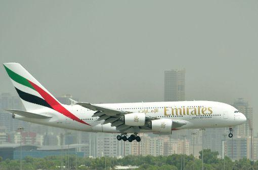 Auf einem Emirates-Flug von Dubai nach München ist ein siebenjähriges Mädchen gestorben. Foto: AFP