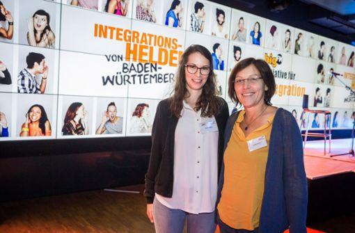 Ausgezeichnet: Vanessa Welt (li.) und Claudia Maas von Aufwindhof. Foto: Lichtgut/Julian Rettig