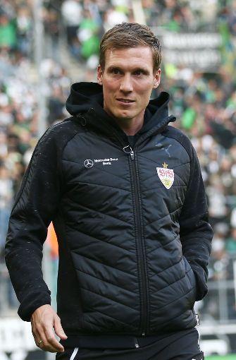 VfB-Coach Hannes Wolf vor der Partie bei Borussia Mönchengladbach. Foto: Bongarts