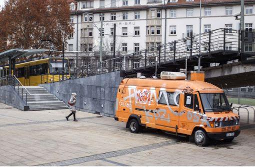 Der Messwagen am Marienplatz Foto: Lichtgut/David Mattheis