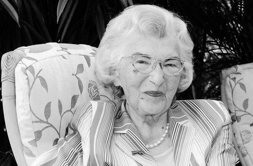 Liesel Hartenstein ist gestorben. Foto: Archiv Bergmann