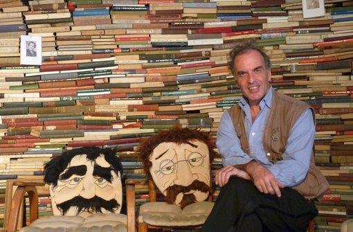 Mendy Cahan und seine 50.000 jiddischen Bücher. Wie seine Bibliothek im fünften Stock eines Busbahnhofs aussieht? Klicken Sie sich durch unsere Bildergalerie. Foto: Welzhofer
