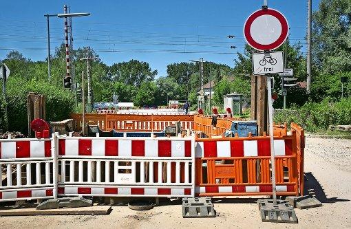 Der Bahnübergang Schützenstraße in Wendlingen wird verschwinden. Foto: Horst Rudel