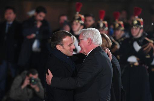 Frank-Walter Steinmeier und Emmanuel Macron gedenken gemeinsam