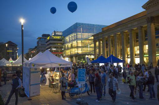 Viele Stuttgarter Händler reichten bei der langen Einkaufsnacht ...  Foto: Lichtgut/Leif Piechowski