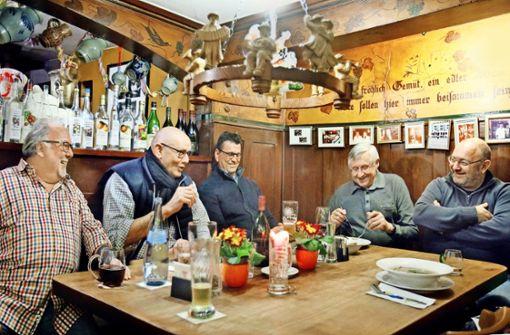In der Weinstube Göhner treffen sich regelmäßig die Chefs der alteingesessenen Betriebe in Tübingen. Hier ist man dem umstrittenen Rathauschef wohlgesonnen. Foto: Horst Haas