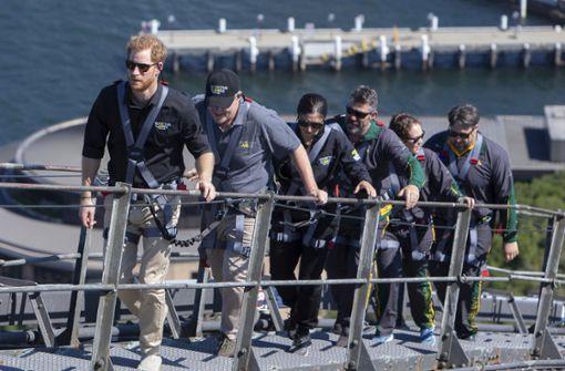 Für Prinz Harry geht es auf die Sydney Harbour Bridge