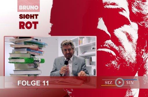 Bruno sieht rot: In der neuen Bibliothek