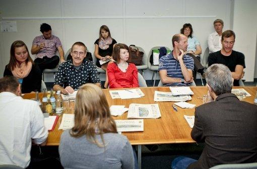 In der Konferenz um 11.30 Uhr. Foto: Peter-Michael Petsch