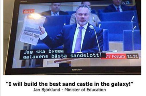Witzige Panne im schwedischen Fernsehen