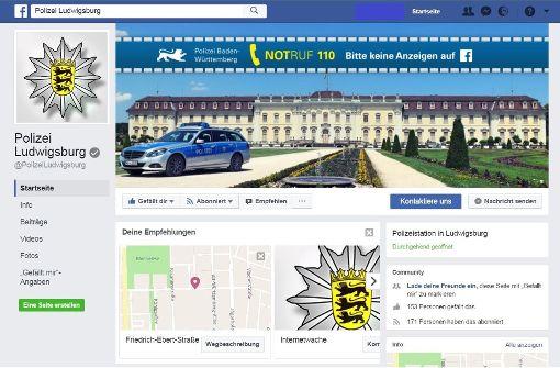 Die Polizei gibt es jetzt auch auf Facebook