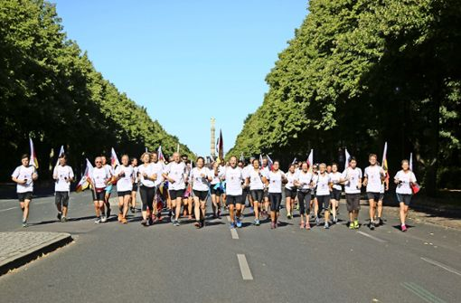 Läufer aus Kuppingen erstürmen  Berlin im Laufschritt