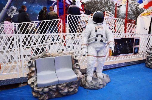 Raumfahrt-Feeling auf dem Cannstatter Wasen. Foto: in.Stuttgart
