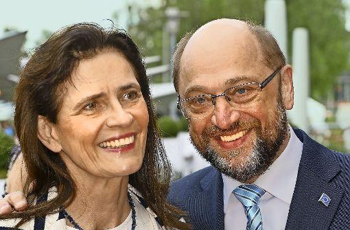 Martin Schulz mit seiner Ehefrau Inge, einer Landschaftsarchitektin Foto: picture alliance