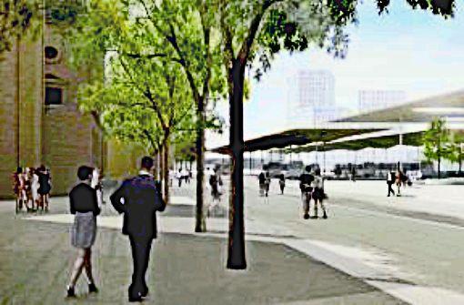 Der neue Busbahnhof bekommt ein Dach