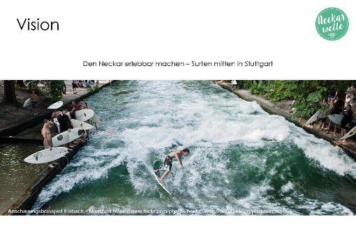 Der Eisbach in München ist das Vorbild. Foto: Team Neckarwelle