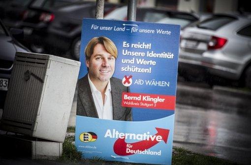 Bernd Klingler im Wahlkampf: Er hat hohe Ansprüche, aber nicht immer an seine Wortwahl Foto: Lichtgut/Leif Piechowski