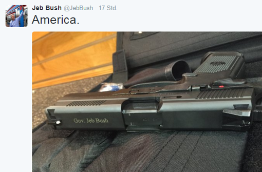 Jeb Bush mit der Pistole auf Stimmenfang