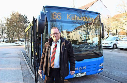Jürgen Daiß fährt seit bald 22 Jahren auf der Linie 66. Foto: Caroline Holowiecki