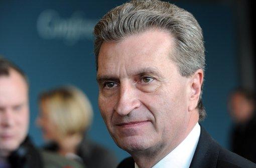Günther Oettinger Foto: dpa
