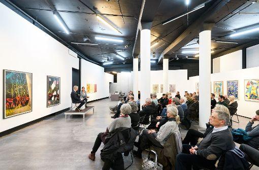 """Erneut Bühne für die StN-Reihe """"Über Kunst"""": Die Galerie Parrotta in StuttgartFoto: Stefen Schmid Foto:"""