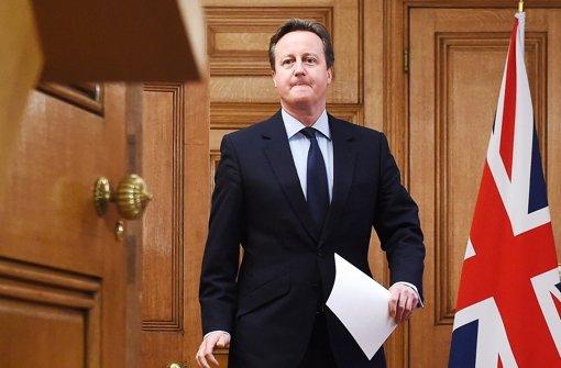 Wirbt für einen Verbleib Großbritanniens in der EU: Premier Cameron Foto: