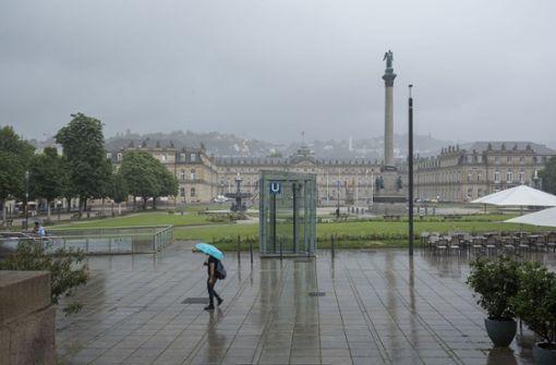 Unwetter ziehen auf Stuttgart zu