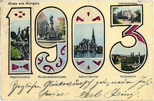 Prosit Neujahr vor über 100 Jahren