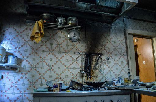 Fettrückstände geraten in Brand