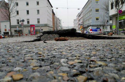 Wasserrohrbruch am Wilhelmsplatz