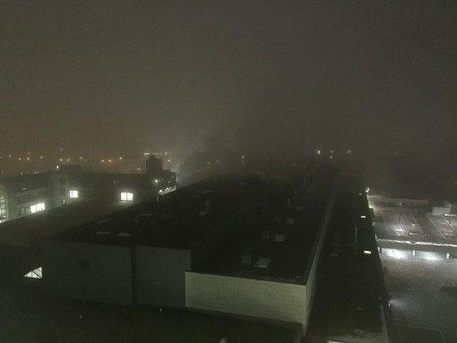 Nebel und Glätte auf den Straßen