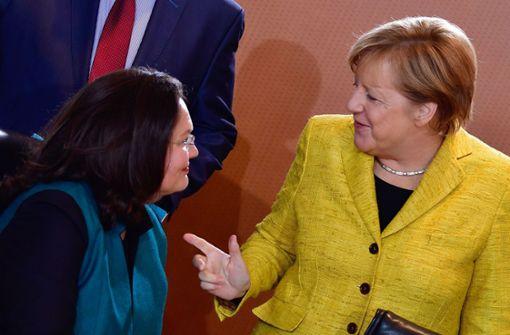 Nahles wäre gegen Merkel chancenlos