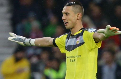 Spielt zurzeit beim VfB Stuttgart sportlich keine Rolle: Odisseas Vlachodimos. Foto: Baumann