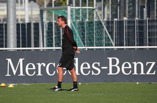 Wegen der Länderspielpause standen dem neuen Trainer lediglich 13 Spieler zur Verfügung.  Foto: Pressefoto Baumann
