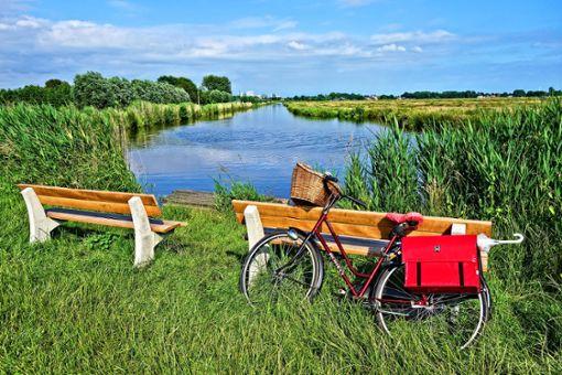 Ein kleines Fahrradpäuschen in mitten idyllischer Natur – auf dem Wikinger-Friesen-Weg ist man fernab vom Trubel der Großstadt.  Foto: Pixabay
