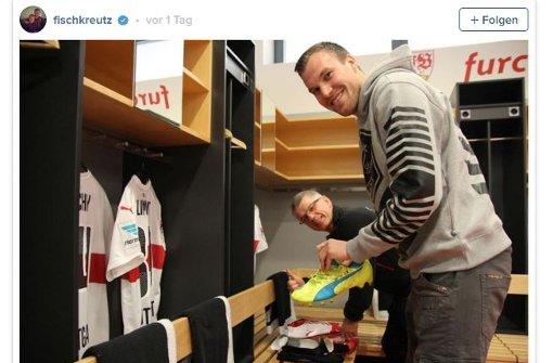 Kevin Großkreutz steht dem VfB in dieser Saison nicht mehr zur Verfügung. Trotzdem tut er alles, um die Mannschaft zu unterstützen.  Foto: Screenshot Instagram / fischkreutz