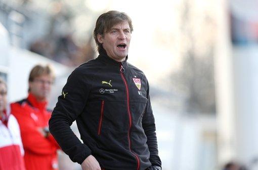 Walter Thomae, der Trainer des VfB Stuttgart II Foto: Pressefoto Baumann