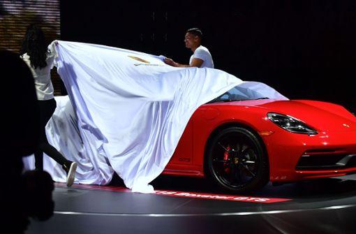 Der Porsche Boxter GTS in Los Angeles. Foto: AFP