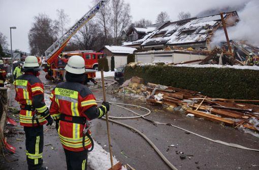 Gasexplosion legt Haus in Schutt und Asche