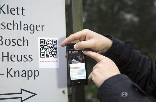 Friedhof per Smartphone erkunden