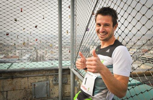 Weltklasse-Treppenläufer Thomas Dold hat es bis ganz nach oben geschafft. Foto: Lichtgut/Ferdinando Iannone