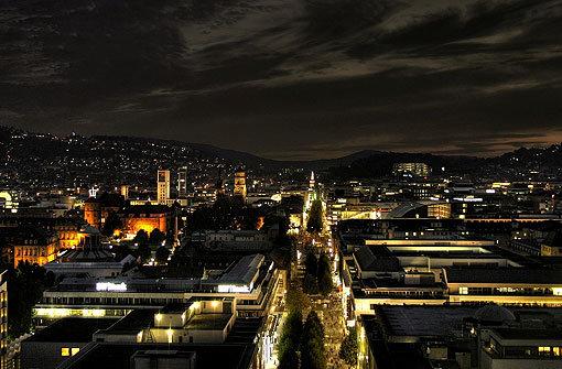 So leuchtet Stuttgart bei Nacht