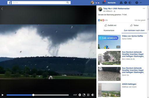 Tornado-Verdacht in Backnang