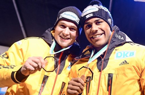 Silber-Jungs: Lochner (li.) und Bluhm Foto: dpa